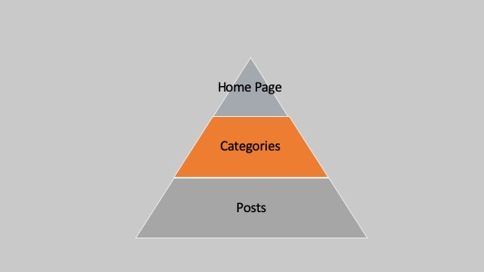The structure or layout of a website