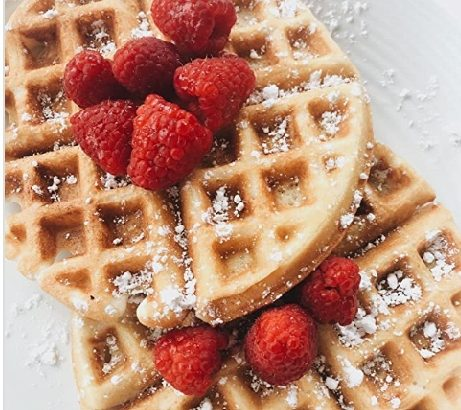 waffle and toppings