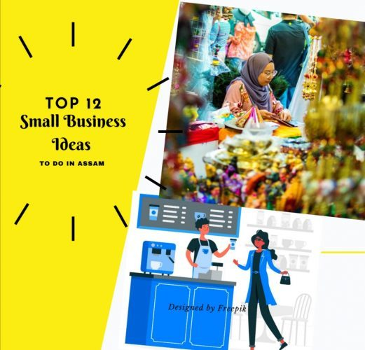 A graphic design illustrating the small business ideas in Assam